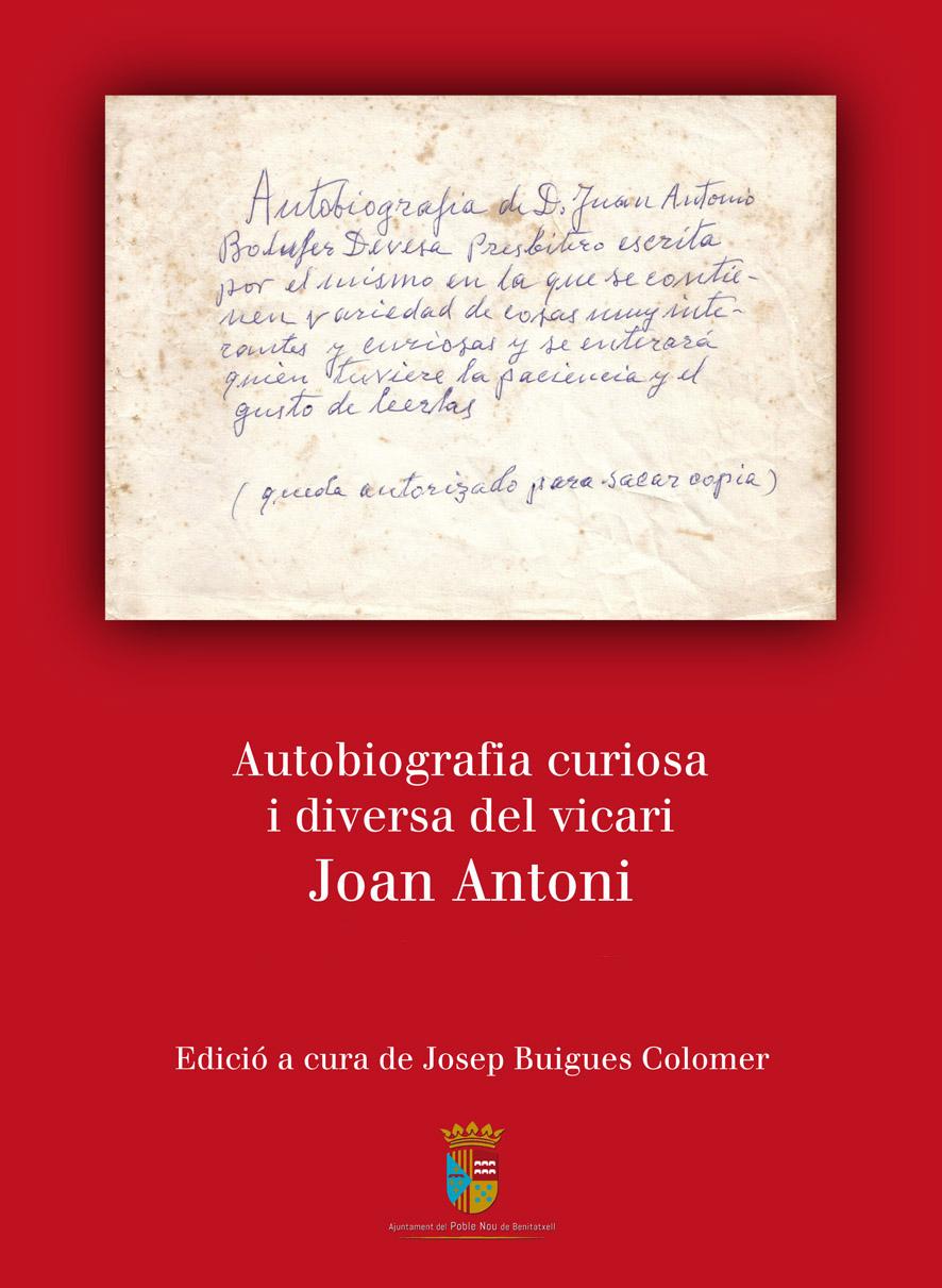 Autobiografia curiosa i diversa del vicari  Joan Antoni